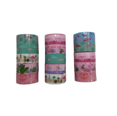 Conjunto Washi Tape Flamingos