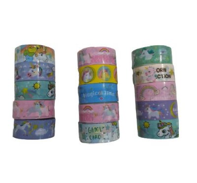 Conjunto Washi Tape Unicórnio