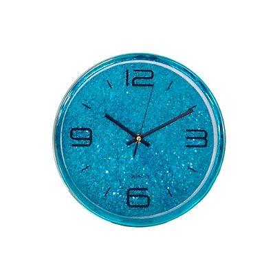 Relógio de Parede - Glitter Azul - 25x25cm