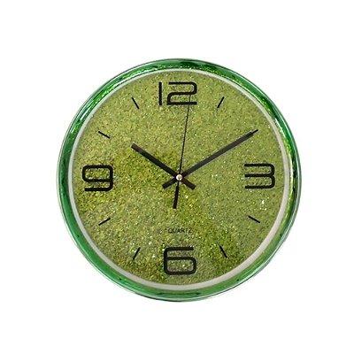 Relógio de Parede - Glitter Verde - 25x25cm