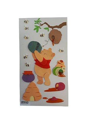 Adesivo Disney Ursinho Pooh Comeia