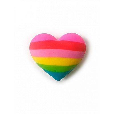 Borracha Coração Colorida