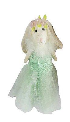 Coelhinha com Vestido Verde