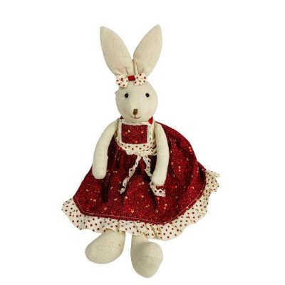 Coelha com Vestido Vermelho