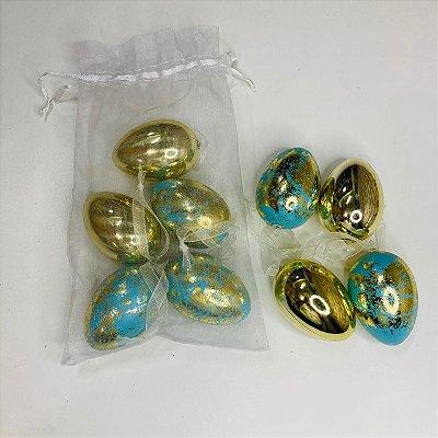 Ovinhos Dourados Decorativos Páscoa