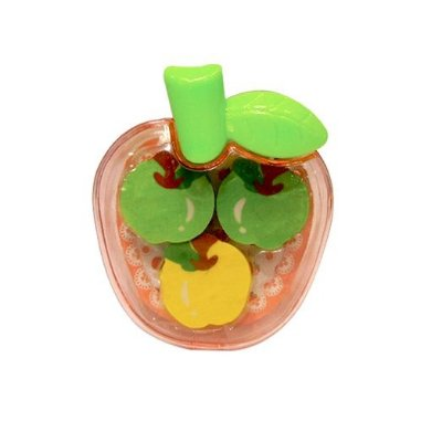 Conjunto de borrachas de Frutas - Maçã Verde