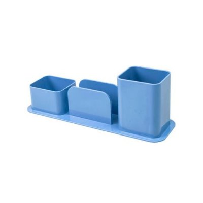 Organizador de Mesa Triplo Azul Pastel
