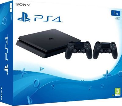 Playstation 4 Slim 2215B 1 TB 2 Controles
