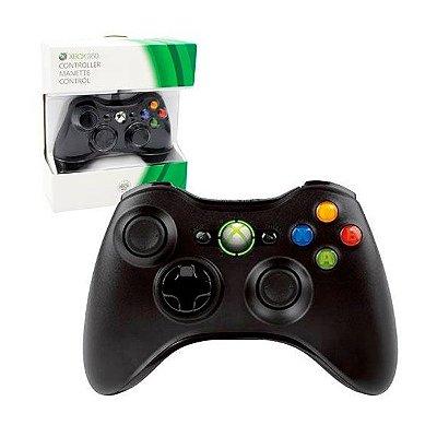 Controle Wireless preto - Xbox 360 1° linha