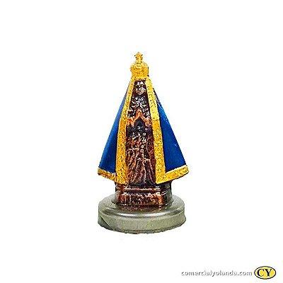 Imagem de Nossa Senhora Aparecida 4 cm em metal com imã - Pacote com 6 Peças - Cód.: 1511