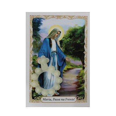 Anel fosforescente com folheto - Nossa Senhora das GRaças - A Dúzia - Cód.: 8006