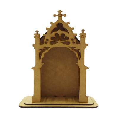 Capela em MDF crú - 20 cm altura - A Peça - Cód.: 4783