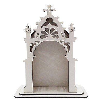 Capela em MDF Branco - 20 cm altura - A Peça - Cód.: 7333