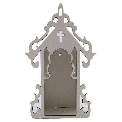 Capela em MDF frente branca - P - Pacote com 3 peças - Cód.: 9659