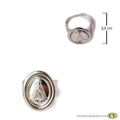 Anel de Nossa Senhora Aparecida em Aço Inox - Pacote com 3 unidades - Cod.: 2897