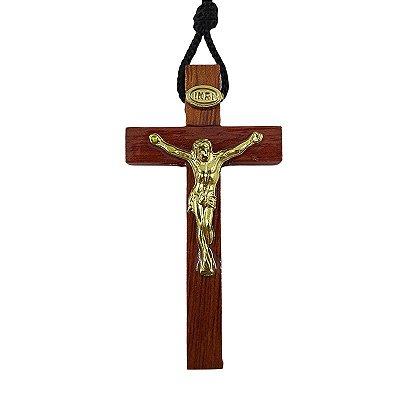 Cruz 7 cm com Cristo e cordão - A Dúzia - Cód.: 0410