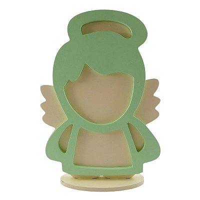 Anjo de Mesa em MDF - Verde - A Peça - Cód.: 7861