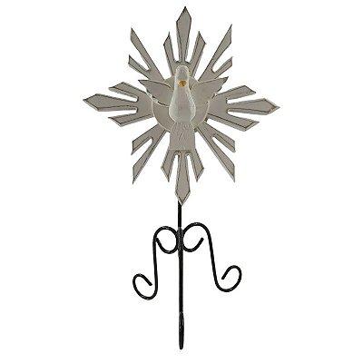 Ostensório Divino Espírito Santo em Madeira e Metal - A Peça - Cód.: 5349