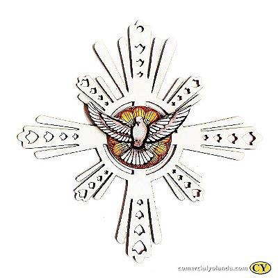 Enfeite de parede do Divino Espirito Santo Branco - O Pacote com 3 unidades - Cód.: 3907