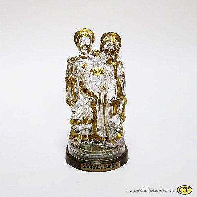 Sagrada Familia em plastico com base em cor ouro velho - O Pacote com 3 peças - Ref.: 2397