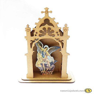 Capelinha em MDF de São Miguel Arcanjo - Pacote com 3 peças - Cód.: 3172