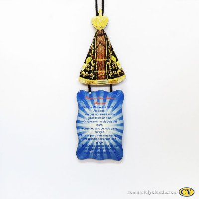 Plaquinha com oração de Nossa Senhora Aparecida - Pacote com 3 peças - Cód.: 917