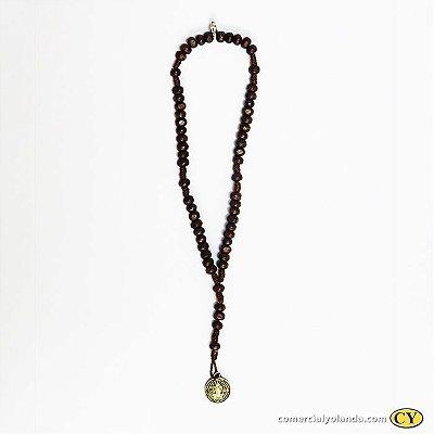 Terço pulseira de São Bento em madeira - A Dúzia - Cód.: 9030
