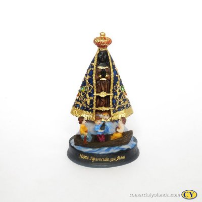 Imagem de Nossa Senhora Aparecida 300 anos P em resina - A unidade - Cód.: 5529