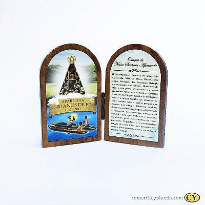 Mini oratório em madeira dos 300 anos - A Unidade - Cód.: 0399