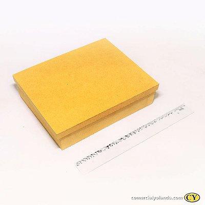 Caixa simples 25 x 20 x 7,5 cm em MDF com tampa - Pacote com 3 peças - Cód.:258