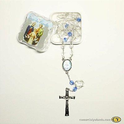Terço Sagrada  Família - Pacote com 6 unidades - Cód.: 2493