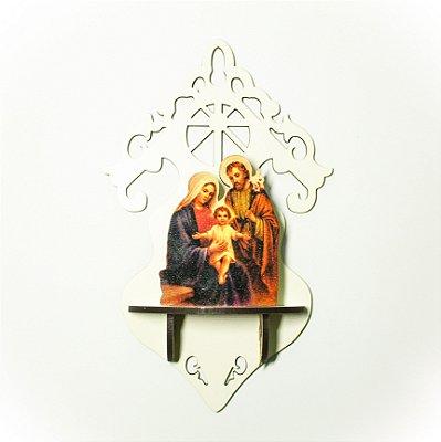 Oratorio em MDF da Sagrada Familia  - A unidade - Cód.: 5082(G) / 8057(P)