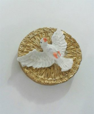 Ímã de Medalha Divino Espírito Santo - Pacote com 6 peças - Cód.: 5600