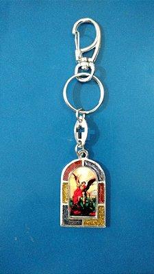 Chaveiro em metal São Miguel Arcanjo - Pacote com 3 unidades - Cód.: 3700