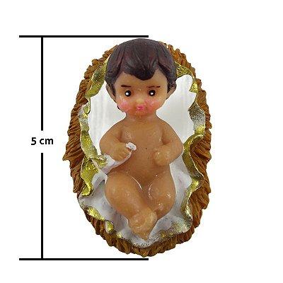 Imagem em resina de Menino Jesus 5cm - Pacote com 6 peças - Cód.: 2899