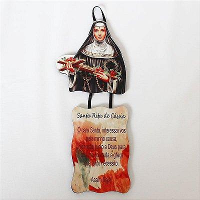 Plaquinha com Oração - Santa Rita - Pacote com 3 peças - Cód.: 917