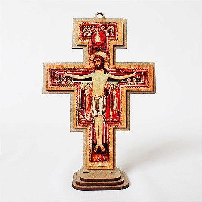 Cruz de São Damião em MDF - Tamanho G - O Pacote com 3 unidades - Cód.: 6090