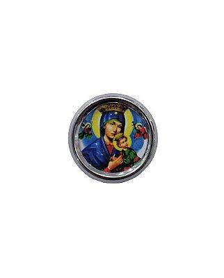 Imã redondo de Nossa Senhora do Perpétuo Socorro - A duzia - Cód.: 1555