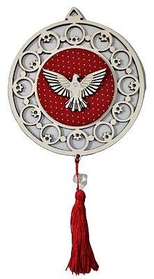 Adorno em MDF com Imagem do Divino Espírito Santo em Relevo - Pacote com 3 unidades - Cód.: 5348
