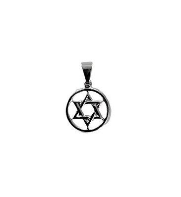 Pingente em Aço Inox Estrela de Davi - O pacote com 6 peças - Cód.: 0219