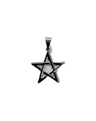 Medalha de Inox Estrela de Salomão  - O pacote com 6 peças - Cód.: 801