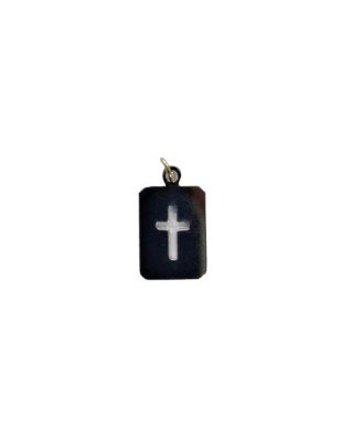 Medalha Cromada, Cruz - A duzia - Cód.: 8028