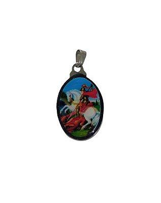 Medalha Cromada de São Jorge - A duzia - Cód.: 3630