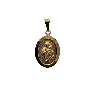 Medalha Oval Dourada da Mãe Rainha - O pacote com 6 peças - Cód.: 464
