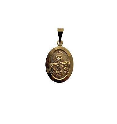 Medalha Oval Dourada de Nossa Senhora Desatadora dos Nós - O Pacote com 3 peças - Cód.: 464