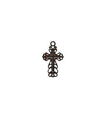 Medalha Dourada Cruz vazada P - A dúzia - Cód.: 4081