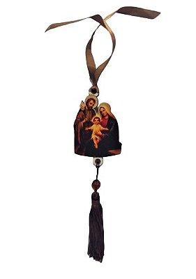 Pendulo Bibelô de Sagrada Família em MDF - O pacote com 3 peças - Cód.: 5746
