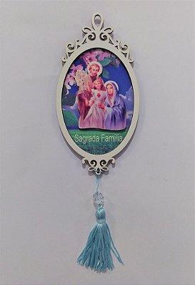 Moldura Espelho da Sagrada Família em MDF - O pacote com 3 peças - Cód.: 1118