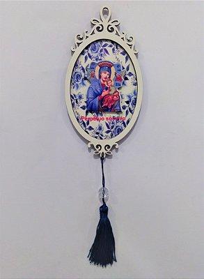 Moldura Espelho de Nossa Senhora do Perpétuo Socorro em MDF - O pacote com 3 peças - Cód.: 1118