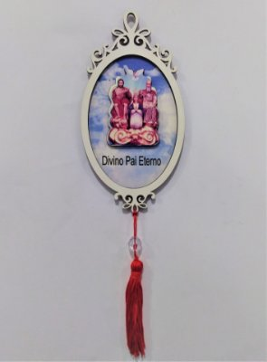 Moldura Espelho do Divino Pai Eterno em MDF - O pacote com 3 peças - Cód.: 1118